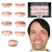 9 Lot Gnarly Teeth Dentures Redneck Vampire Zombie Grampa - Novelty Fun Gag Gift