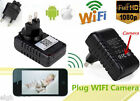 HD 1080P SPY Hidden Wifi IP Wall Charger Camera Adapter DVR Video Recorders Cam