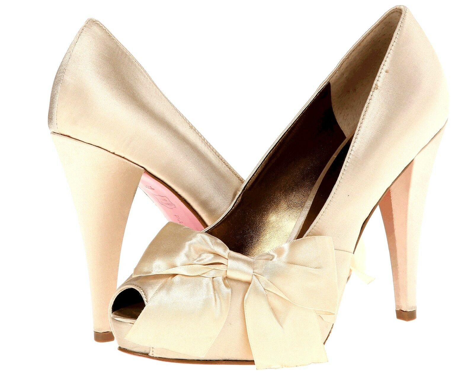 New Paris Hilton Destiny ivory  satin Damens's heel schuhe 155  Größe 8.5 (MSR 155 schuhe ) be98f0