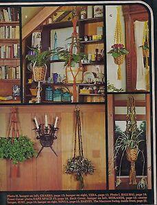 Short Beginner Plant Hanger Patterns in Knots 'N Easy Macrame Craft Book MAC400