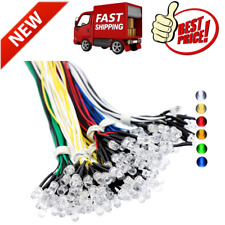 120 Pcs 6 Color Ultra Bright 12v Pre Wired Led Diodes Light White Red Blue Green