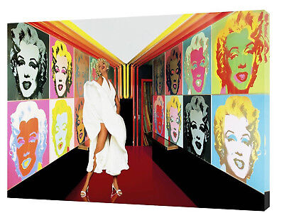 MARILYN MONROE GALLERY  PHOTO PRINT ON FRAMED CANVAS WALL ART