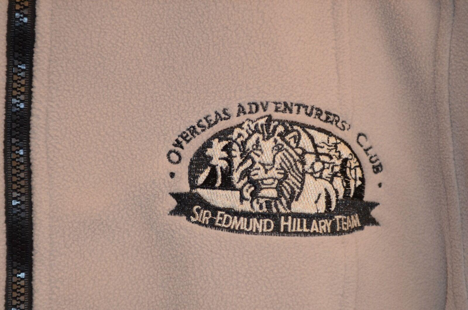 Sir Edmund Hillary Team Fleece Size XL Full Zip