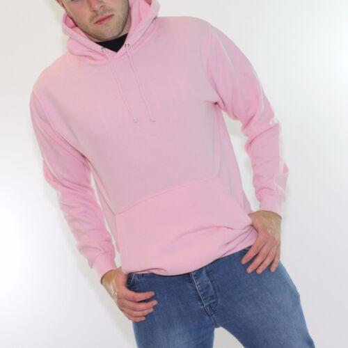 Mens Fashion Fit Hoodie Pink Tan Black Grey All Sizes Hoody Sweatshirt