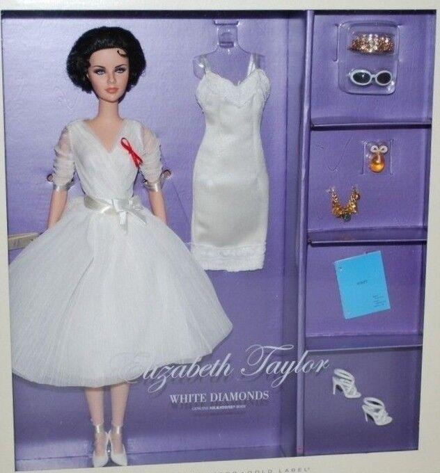 Barbie Elizabeth Taylor blanco Diamonds Liz Silkstone set 2012 NRFB