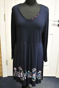 Women-039-s-Joe-Browns-Navy-Blue-Jersey-Dress-size-18