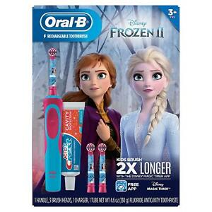Oral-B Kids Disney Frozen 2 Electric Toothbrush and Crest
