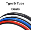 miniatuur 1 - Vandorm 700 x 23c SPEED 3 Colour Road Bike Fixie Tyres & Tube DEAL OPTIONS