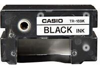 Casio TR-18BK-S Black Ink Ribbon Cassette for Disc Title Printer CW50 75 100 300