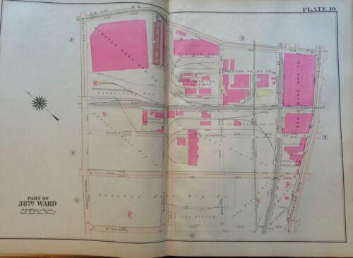 CO COPY PLAT ATLAS MAP 1925 BROMLEY PHILADELPHIA PA FERNHILL ATWATER KENT MFG