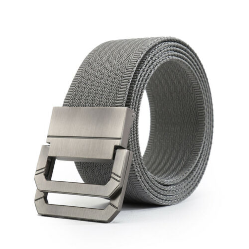 New Men/'s Military Belt for Jeans Wave Canvas Woven D-Ring Buckle Tactical Belt