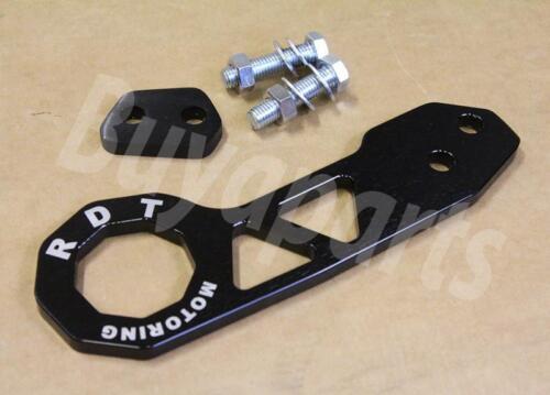 EJ2 GEN 2 BLACK Anodized Aluminum Rear Tow Hook 1992-1995 Honda Civic EG EJ1