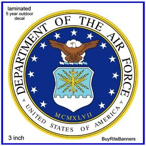 US-Air-Force-Emblem-Decal-Sticker-Laminated-High-Quality