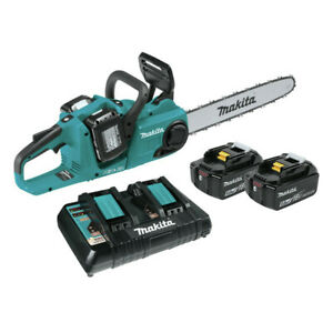 Makita XCU04PT1 18V X2 (36V) LXT Li-Ion BL 16 in. Chain Saw Kit (5 Ah) New