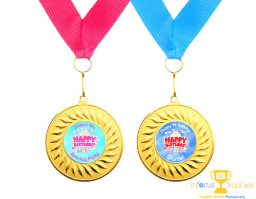 10 x Personalised Birthday Party Medals Gifts Favours Present Ideas Boys /& Girls