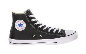 d6af22803e74 Converse Men Unisex All Star Hi Top Leather Shoes Black White Chuck ...