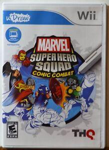 Nintendo Wii Marvel Super Hero Squad Comic Combat U Draw Family