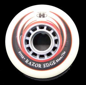4er 8er HYPER RAZOR Rolle 80 mm 76A Fitness Hockey Inline
