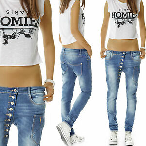 damen jeans hose boyfriend baggy h ftjeans schr ge. Black Bedroom Furniture Sets. Home Design Ideas