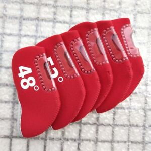 6pcs-Red-Neoprene-Golf-Wedge-Iron-Cover-Wedge-Club-Headcover-48-52-54-56-58-60