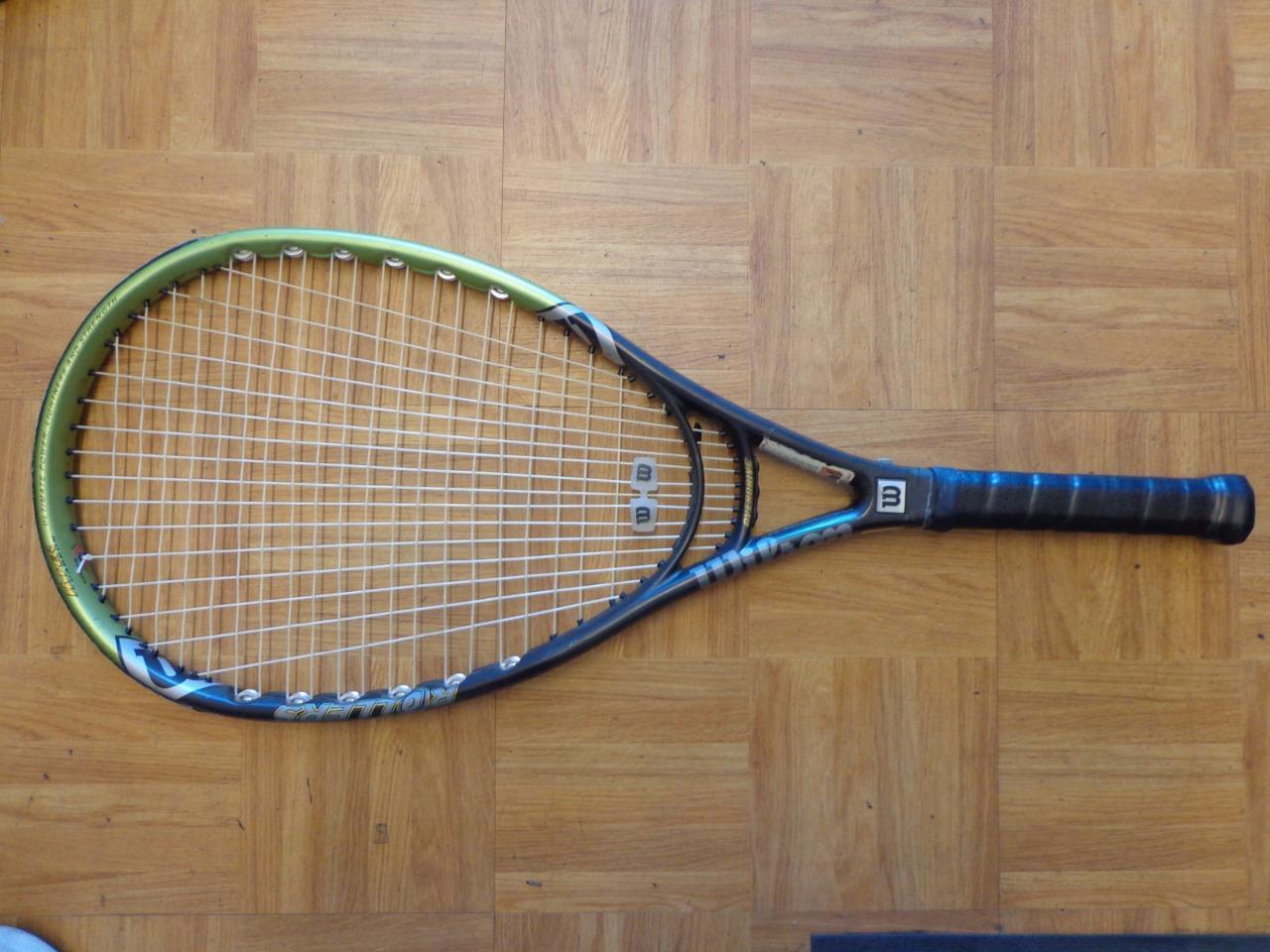 Wilson Hyper Hammer 2.6 rodillos 115 cabeza 4 3 8 Grip Tenis Raqueta