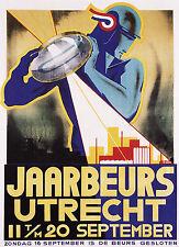 Art Deco Poster by Jaarbeeurs Utrecht's, 1920s 13 x 19 Giclee print
