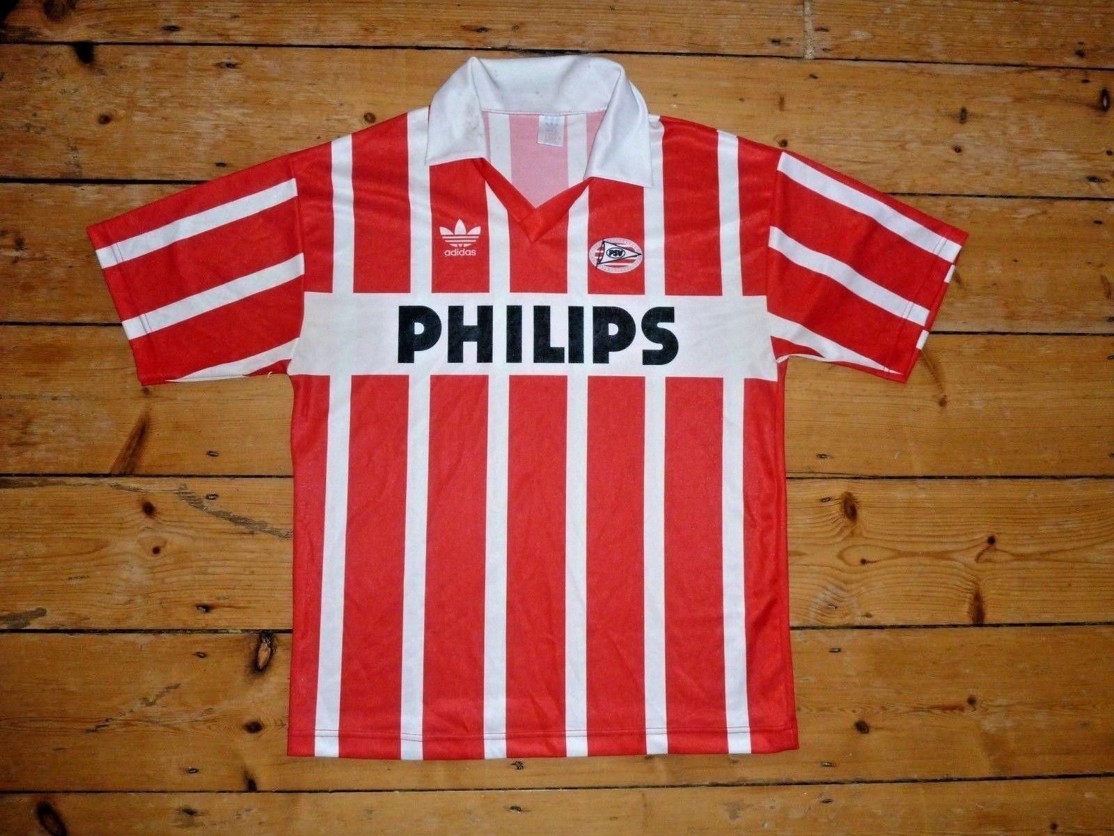 Psv Eindhoven Calcio Maglietta Maglia Maglia Maglia da 1990 Camiseta Maillot Maglla Taglia XL f44