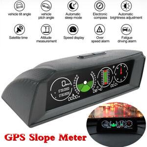 Medidor-de-GPS-vehiculo-velocidad-de-alarma-inclinometro-pendiente-inclinacion-Pitch-Calibre