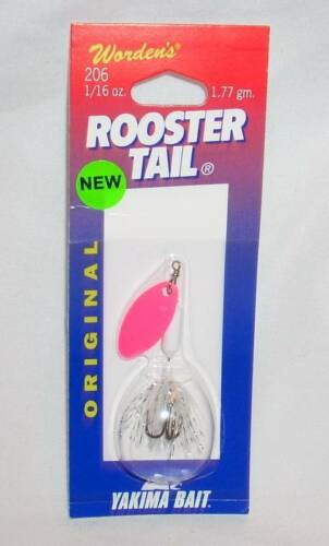 Wordens Yakima Bait 1//16 oz Pink White Claudette Rooster Tail Fishing Lure