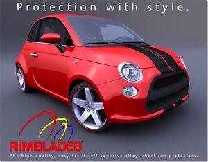 orange rimblades flex alloy wheel rim protectors protection guards ebay. Black Bedroom Furniture Sets. Home Design Ideas