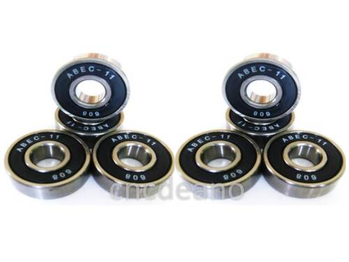 8X ABEC 11 608 WHEEL BEARINGS FOR SKATEBOARD STUNT SCOOTER QUAD INLINE SKATE 7 9