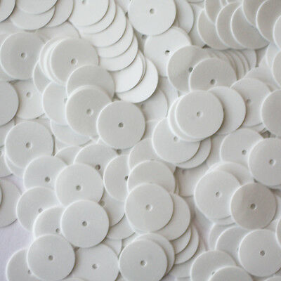 4mm Flat SEQUIN PAILLETTES ~ PORCELAIN WHITE ~ Made in USA