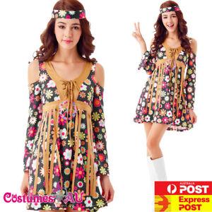 Ladies-1960s-Retro-Groovy-Costume-Hippie-Hippy-Lady-60s-70s-Disco-Fancy-Dress