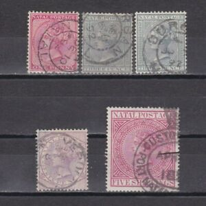 SOUTH AFRICA NATAL 1874, SG# 66-73, CV £88, Used