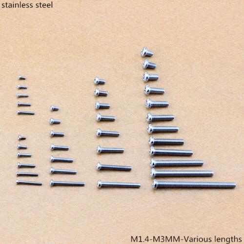 Pozi Pan Head Machine Screw Pozi Drive Bolts Stainless Steel M1.4-M3 100-1000Pcs