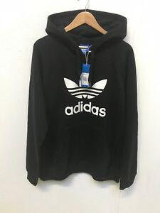 dbb12c1a8cb9 adidas Originals Men s 3 Trefoil Foil Logo Hoodie - XL - Black - New ...