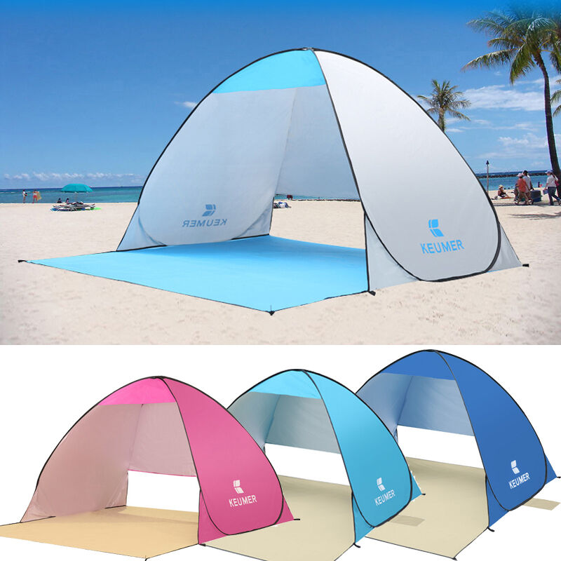 1-2 Person UV Sun Predective Beach Tent Poratble Waterproof Fishing Outdoor Hot
