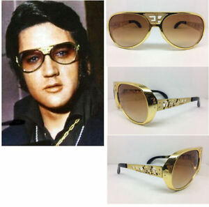 ELVIS SUNGLASSES ORIGINAL EP TCB GRAND PRIX AVIATORS MULTI COLORS