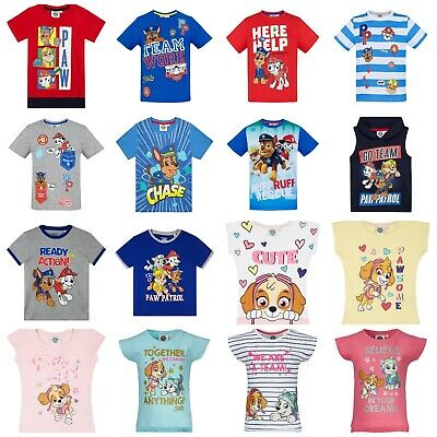 Ages 3-8 Paw Patrol Official Kids Boys Girls T-Shirt