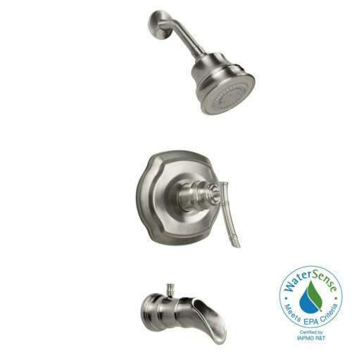 Glacier Bay Tub Shower Faucet Combo 1 Handle 3 Spray 1 8 Gpm Flow Rate Kitchen Faucets Home Improvement
