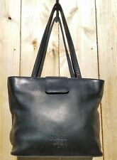 613e1316b1 AUTHENTIC VINTAGE PRADA BLACK CALFSKIN LEATHER TOTE SHOULDER BAG MADE IN  ITALY