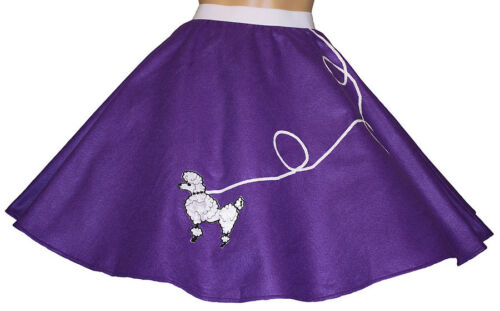 "18/"" Purple FELT Poodle Skirt /_ Girl Size SMALL Ages 4-6 24/"" /_ L /_ Waist 18/"""