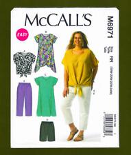 Shorts and Pants Dress Size RR 18W-20W-22W-24W Tan Tunic McCall Pattern Company M6971 Womens Top