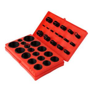 222-382-404-419-Pcs-Rubber-Series-O-Ring-Seal-Plumbing-Garage-Kit-With-Case-FC