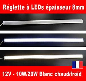 Reglette à LEDs dimmable 10W 20 watts 12V volts Blanc (barrette lampe éclairage)