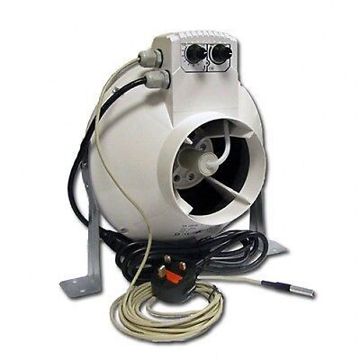 5-Inch VENTS-US VK 125 U Inline Centrifugal Fan with Temperature and Speed Control