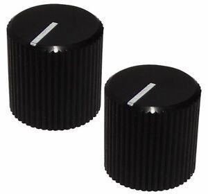 2 Boutons De Potentiomètre Pour Axe 6mm Ø12 X 12mm Noir En Aluminium Ghfmtztp-07165905-379399718