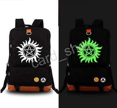 TV Supernatural Sam Dean School Shoulder Bag Backpack Cosplay Luminous 2015 new