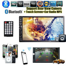 7'' Touch Screen Car FM Radio Bluetooth MP4/USB/SD/AV IN/AUX/EQ 2 DIN Head Unit