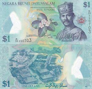 BRUNEI 2013 $1 POLYMER UNC,(AV)